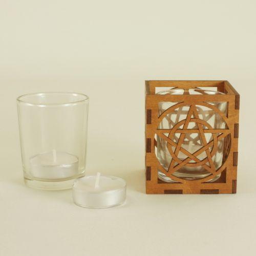 Pentacle Tea Light Holder